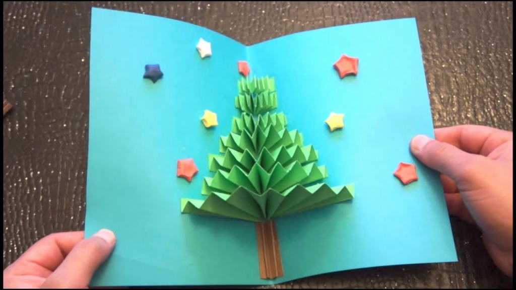 A super easy way to make Christmas Tree 3D pop-up cards ...